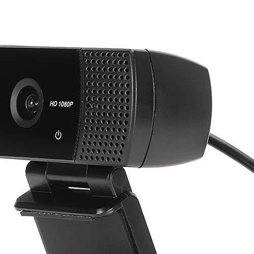 Hoseten Cámara Web 1080P, cámara Web 1920x1080 DC 5V, para la enseñanza en línea del Cuaderno(Black, Pisa Leaning Tower Type)
