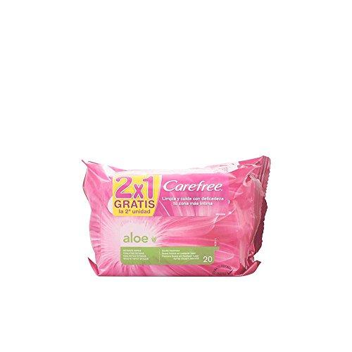 Carefree aloe toallitas íntimas 2x20 uds.