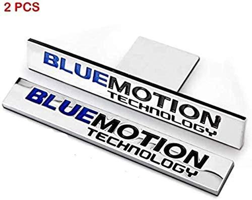 CCIG 2Pcs 3D Metal Blue Motion Autoseitenkotflügel Heckkoffer Emblem Abzeichen Aufkleber Aufkleber Dekorationen Für Vw Cc Sagitar Golf 6