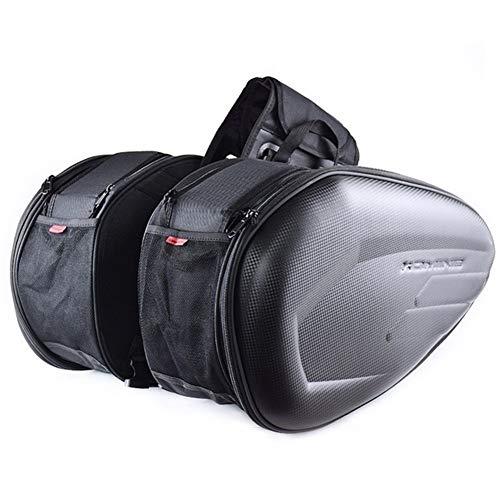 Motocicleta Bolsa De alta capacidad a prueba de agua Moto cola equipaje de los bolsos Bolsa Maleta lateral de una silla de la motocicleta casco de montar viajar con Raincover plástico Alforjas De Moto