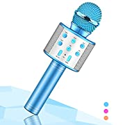 #LightningDeal Wireless Karaoke Microphone for Kids,Evassal Kids Microphone for Birthday Gifts,Toys for 4-14 Year Old Girls Boys