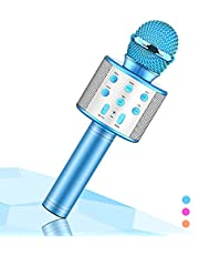 Wireless Karaoke Microphone for Kids,Evassal Kids Microphone for Birthday Gifts,Toys for 4-14 Year Old Girls Boys