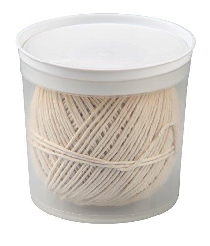 Fackelmann Grill-/Bratenschnur, Rouladen-Schnur in Spenderbox, Küchengarn für Fleisch, Gemüse oder Fisch (Farbe: Beige), Menge: 1 Stück