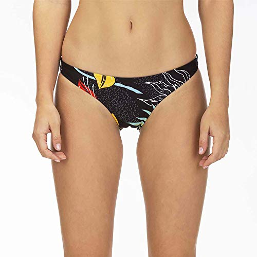 Hurley Q/D Domino Reversible Surf Bottom Partes De Abajo Bikini, Mujer, Oil Grey, XS