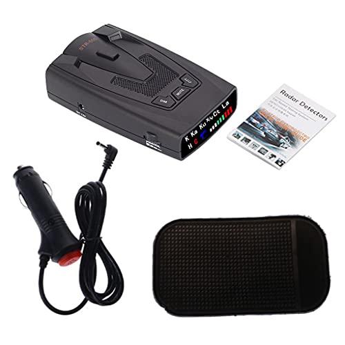 LEXIANG Radares automotrices Alerta de Velocidad del vehículo Advertencia de Alarma Radares de monitoreo de Banda Completa para una conducción Segura