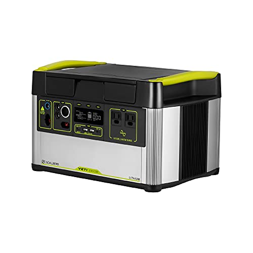 Goal Zero Yeti 1000 Core Portable Power Station, Solar Generator Charging Station Box, 1000Wh Indoor and Outdoor Power for Camping, RVing, Tailgating, Emergency Power, and More