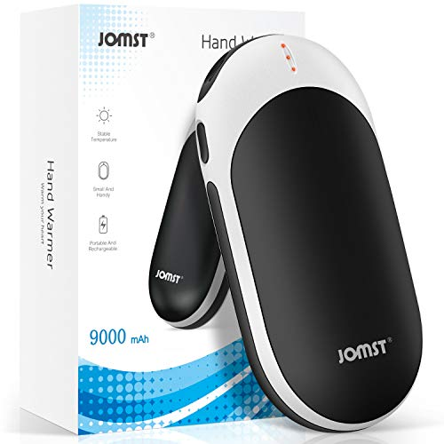 Jomst 9000mAh Hand Warmers,Rechargeable Hand Warmer,Larger Capacity Electric Power Bank, Portable and Long-Lasting, (Black)…