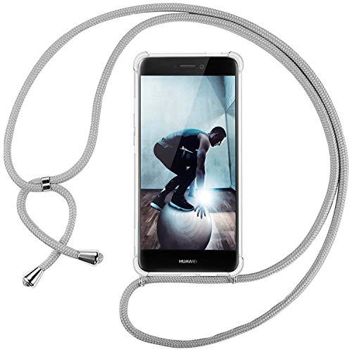 Ingen Funda con Cuerda para Huawei P8 Lite 2017 - Carcasa Transparente TPU Suave Silicona Case con...