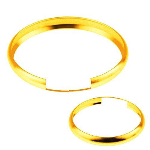 iJDMTOY Gold Aluminum Smart Key Fob Surrounding Ring Decoration Compatible With 2008-2014/2015 Gen2 Mini Cooper R55 R56 R57 R58 R59 & Gen1 R60 R61