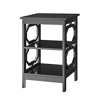 Convenience Concepts Omega End Table, Black