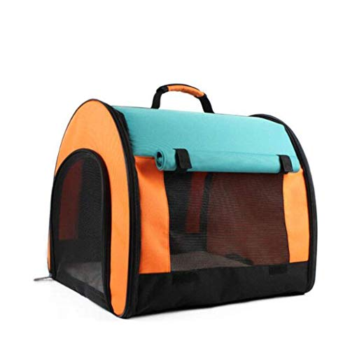 kyman Pet Teepee,Portable Foldable Pet Playpen Carrying Case| Indoor/Outdoor Use,Suitable For Outdoor Travel Cat Bag-blue Automatic Camping Tent