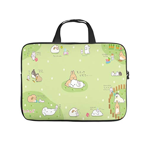 Bolsa para ordenador portátil resistente al agua con diseño de conejo de Pascua