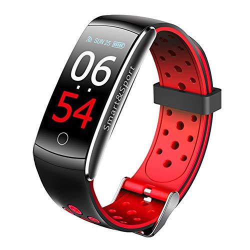 Ingrirt5Dulles Pulsera Deportiva Inteligente, Z11C Monitor de presión Arterial y frecuencia cardíaca, Bluetooth, Contador de Consumo de calorías, Color Red
