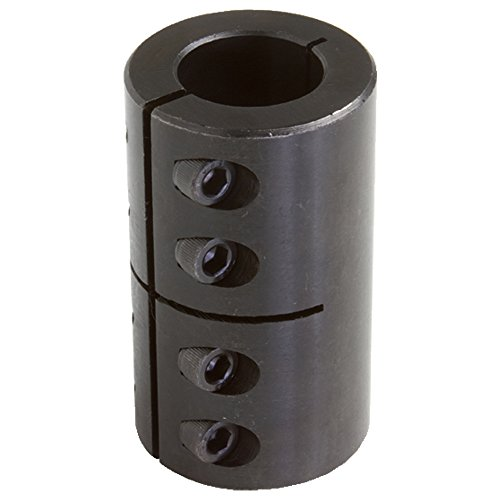 Climax Part ISCC-087-087 Mild Steel, Black Oxide Plating Clamping Coupling, 7/8 inch X 7/8 inch bore, 1 5/8 inch OD, 2 1/2 inch Length, 1/4-28 x 5/8 Clamp Screw