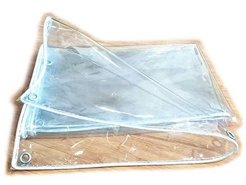 Tarpaulin-CZY Afdekzeil, schermbescherming, transparant, slijtvast, waterdicht, winddicht, polyethyleen, tuinwerk, aanpasbaar, meerdere afmetingen 1.2m*2m A