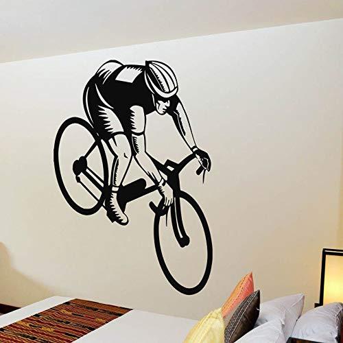 Geiqianjiumai Muurstickers Sport Fitness fiets fiets huishoudtextiel afneembare wanddecoratie