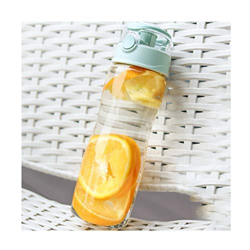 kerryshop Tetera Gran Capacidad de Botellas de plástico con un Solo Clic de botón, Durable Deportes Botellas portátiles Tapa hermética sellada Copas Tetera Eléctrica (Color : A)