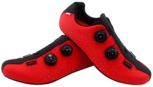 LUCK Eris, Zapatillas de Ciclismo de Carretera Unisex Adulto, Rojo, 43 EU