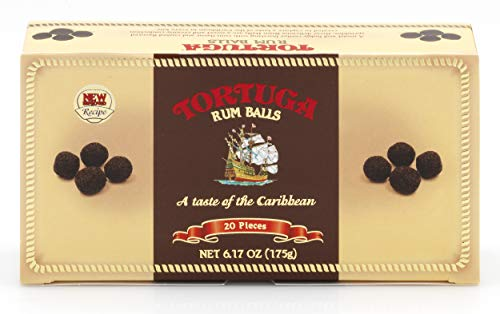 TORTUGA Gourmet Rum Balls – Premium Bites - The Perfect Premium Gourmet Gift for Stocking Stuffers, Gift Baskets, and Christmas Gifts - Great Cakes for Delivery