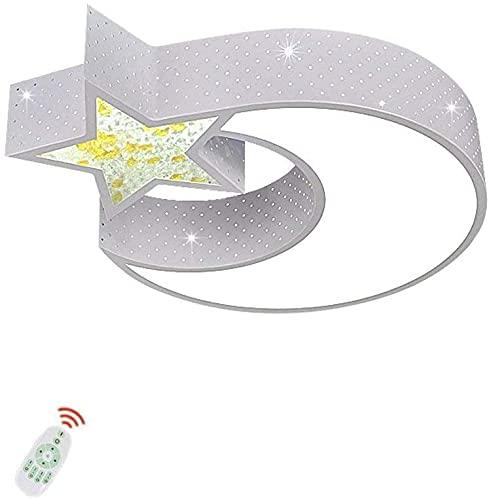 Luz de techo Luz moderna Lámpara de sala de estar Dibujos animados creativo de hierro blanco acrílico estrella decorativa luna lámpara de techo lámpara de techo romántico dormitorio iluminación luz de