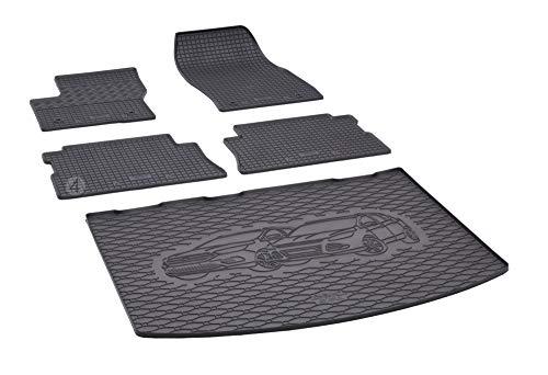 Passgenaue Kofferraumwanne und Gummifußmatten geeignet für Ford Kuga ab 2013 + Autoschoner MONTEUR
