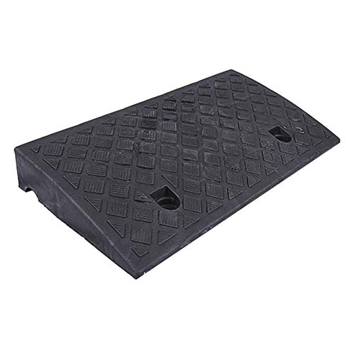 ZKORN Rubber Kerb Ramps Car Door Ramp Plastic Channel Plate Heavy Wheelchair Ramp Non-Slip Waterproof Cushion Non-slip Waterproof