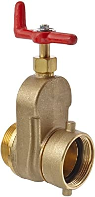 "Moon 734-2521 Brass Hose Gate Valve, Non-Rising Stem, 2-1/2"" FNST x MNST by Moon American"