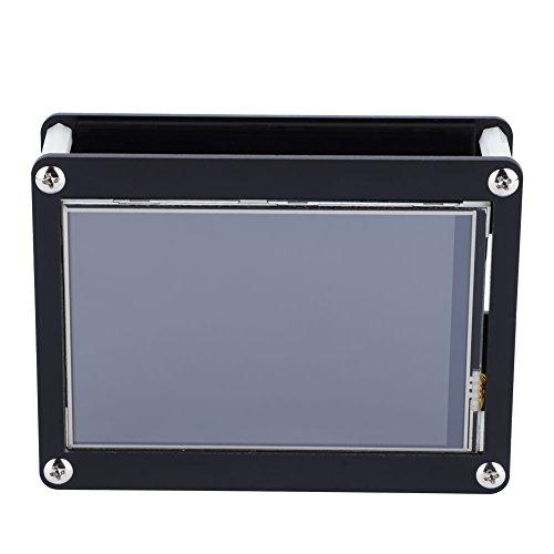 LCD-Bildschirm-4.0-Zoll-LCD-Bildschirm 480 x 320 Touch Control LCD-Bildschirm + schwarzes Acrylgehäuse für Raspberry Pi
