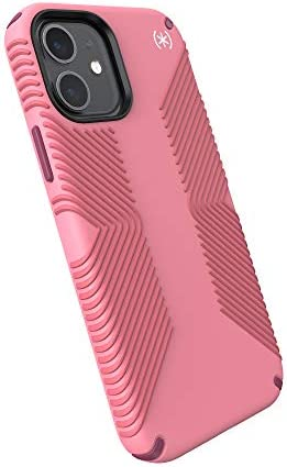Speck Products Presidio2 Grip iPhone 12 iPhone 12 Pro Case Vintage Rose Royal Pink Lush Burgundy product image