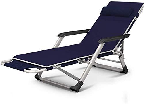 HaoLi Sillas de jardín, sillones reclinables Sillas reclinables Plegables de Gravedad Cero - Gran tamaño Ajustable para terraza de jardín al Aire Libre, Soporte 400 Libras, Tumbona