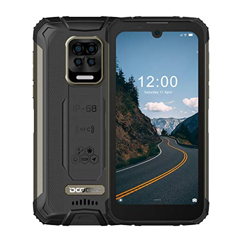 Rugged Smartphone, DOOGEE S59 Pro Android 10, 4GB+ 128GB, 16MP + 8MP Four Cameras, 10050mAh Battery, 5.71 inches HD+, IP68 Waterproof Mobile Phone, 4G Dual SIM, NFC/GPS, US Version - Mineral Black