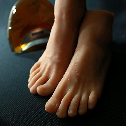 XIAOQIAO Silikon-Mannequin Fuß Silikon Lifesize Männlicher Schaufensterpuppenfuß 1 Paar Männlicher Realistischer Silikon Lebensechter Weicher Simulationsfuß für Schuhe und Socken Displaygröße 42