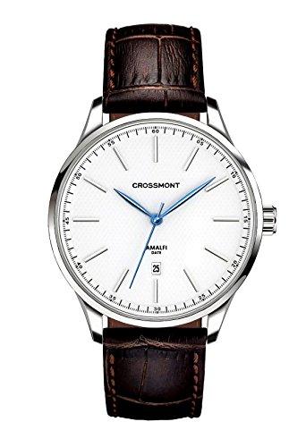 Crossmont Amalfi Bianco Marrone Classico 40.9 mm, Cristal de Zafiro Reloj de Pulsera Relojes de Moda CW0110407