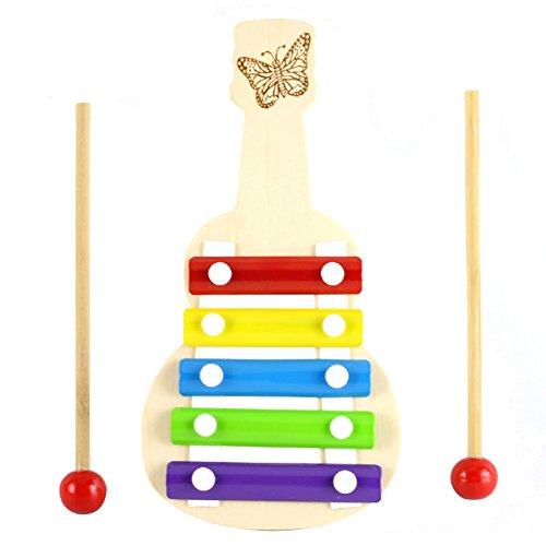 Isuper Xilofono in Legno Giocattolo Musicale Strumento Xilofono per i Bambini per l'educazione