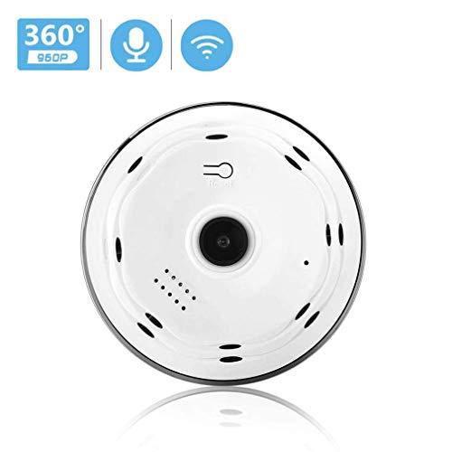 360-Grad-Panoramakamera HD 960P IP-Kamera WiFi Zweiwege-Audio mit SD-Kartensteckplatz VR-Überwachungskamera Für den Innenbereich Drahtlos, mit Bewegungserkennung, HD-Video