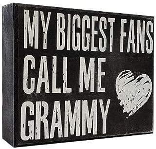 JennyGems - My Biggest Fans Call Me Grammy for Grammy, Birthdays, Positive Signs, Grammys Gifts,Shelf Knick Knacks