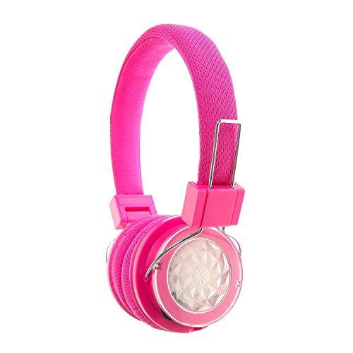 Claire 's Intermitente Bluetooth Auriculares en Color Rosa