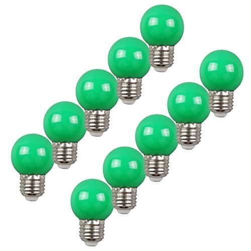 10per-pack Farbige Leuchtmittel LED 2W E27 G45 Birne Beleuchtung Glühbirne Leuchtmittel für Partybeleu chtung Biergartenbeleu chtung (Grün)