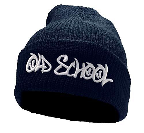 Customized by S.O.S Beanie Old School mit 3D-Stick (schwarz)