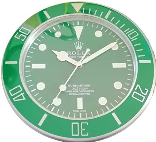 Replica Orologio 35 CM da Muro Rolex Submariner Ghiera Verde in Metallo e Quadrante Verde No Data Movimento Fluido Silenzioso 2 Anni Garanzia e 2 CD in Omaggio Made in Italy