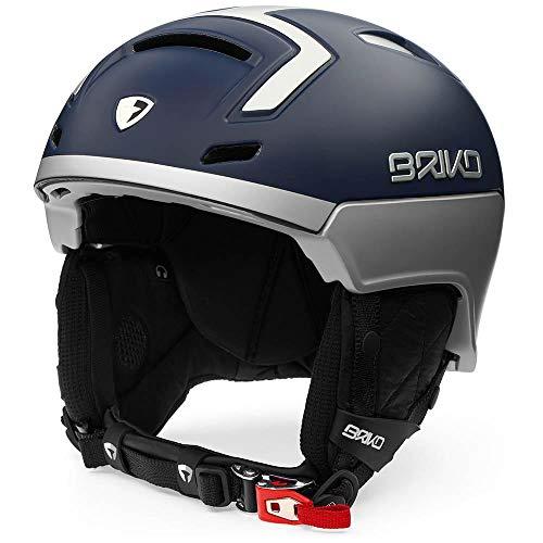 Briko Stromboli Casque de Ski, Unisexe Adulte XL Bleu foncé/Gris (Dark Blue Metal Grey)