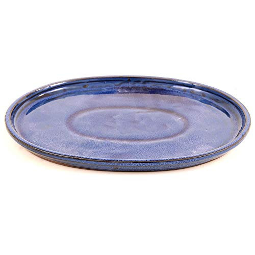 Bonsai - Untersetzer oval 26,5 x 21,5 cm, blau 54321