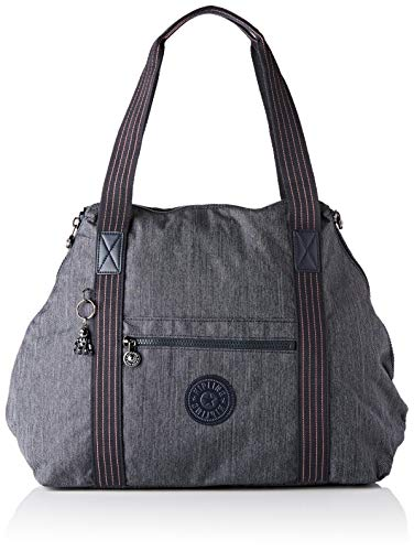 Kipling ART M Bolsa de tela y playa, 58 cm, 26 litros, Azul (Active Denim) (Luggage)