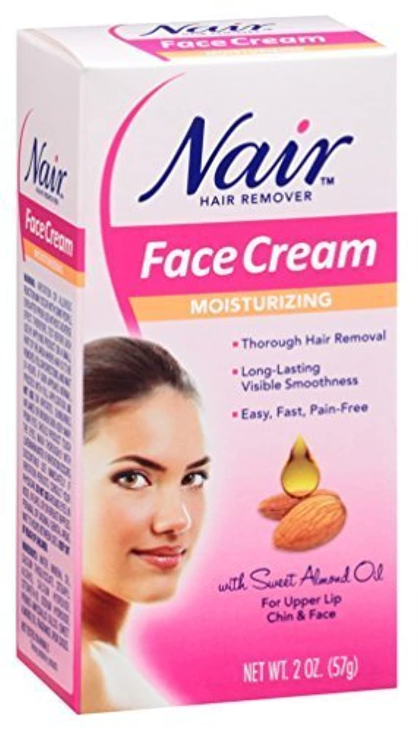 開梱ストローむき出しNair Moisturizing Face Cream Hair Remover 2 oz by Nair [並行輸入品]