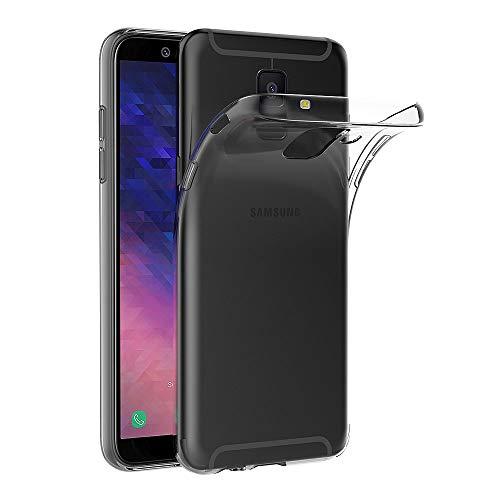 AICEK Coque Samsung Galaxy A6 2018, Transparente Silicone Coque pour Samsung A6 2018 Housse Silicone Etui Case (5,6 Pouces)