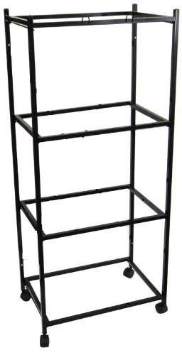 Mcage 4 Tiers Stand for 30'x18'x18 Aviary Bird Cages Black