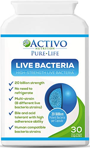Live Bacteria, 20 Billion Max Potency Organisms, Patented Stomach Acid Resistant & Heat Resistant Strains, Best Proven Probiotic for Women, Men, Children to Improve Digestion, Immunity, Energy, Focus