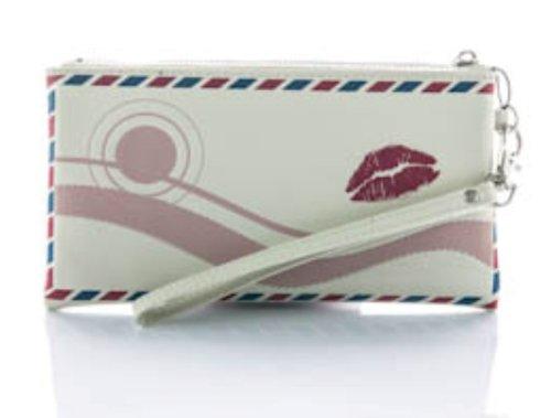 Danielle Creations Trousse Motif lettre d'amour Écru