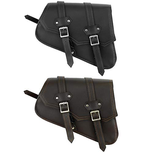 RXL Bolsa de sillín de Motocicleta, Organizador de Almacenamiento de Equipo de Cuero, Paquete de Asiento, Bolsa de sillín, Caja de Herramientas de Almacenamiento Impermeable (Negro)