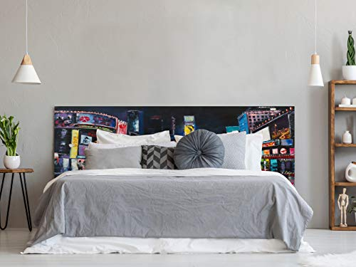 Cabecero Cama Nueva York Pintura 150x60cm | Color Blanco | Diponible en Varias Medidas | Cabecero Ligero, Elegante, Resistente y Económico